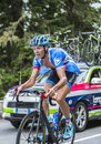 Johan Vansummeren on Col du Tourmalet - Tour de France 2014 Royalty Free Stock Photo