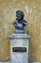 Johann christoph friedrich von schiller statue sibiu city romania monument Stock Photo