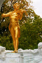 Johann strauss golden statue in stadtpark vienna Royalty Free Stock Image