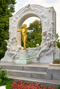 Johann strauss golden statue in vienna stadtpark Royalty Free Stock Photo
