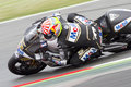 Johann zarco of jir team compete at the race of moto grand prix of catalunya on june in barcelona spain the winner was andrea Royalty Free Stock Photos