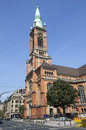 Johannes church in dusseldorf the on the martin luther platz germany Stock Image