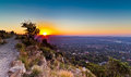 Johannesburg view from above sunset at northclif hill Royalty Free Stock Photography