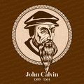 John Calvin 1509 – 1564 was a French theologian, pastor and reformer in Geneva during the Protestant Reformation Royalty Free Stock Photo