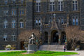 John carrol in front of georgetown university was founded by Royalty Free Stock Images