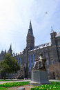 John carroll statue by georgetown university was founded carrol in Stock Photo