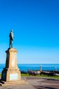 John cook memorial in whitby england north yorkshire uk october is a seaside town and port north yorkshire uk its Royalty Free Stock Photography
