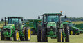 John Deere Farm Tractors Royalty Free Stock Photo