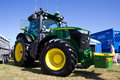 John deere at nairn show scotland july new tractor on display the annual farmers on july in scotland Royalty Free Stock Photography
