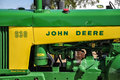 John deere side photo of tractor shot this in in waterloo iowa Stock Image