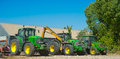 John Deere tractors Royalty Free Stock Photo
