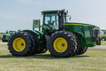 John deere wheel drive tractor new r farm Stock Images