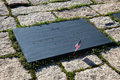 John f kennedy gravestone på washington memorial arlington ceme Royaltyfria Foton