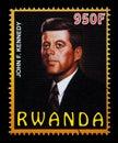 John F. Kennedy Postage Stamp Royalty Free Stock Photo