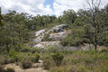 John Forrest National Park rocky landscape Royalty Free Stock Photo