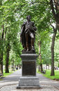 John glover statue at the commonwealth avenue mall Stock Photo