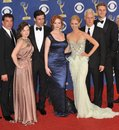 John Hamm,January Jones,Christina Hendricks,Elizabeth Moss Stock Photo