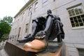 John Harvard Statue in Harvard University Royalty Free Stock Photo