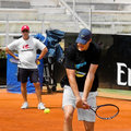 John Isner - Internazionali BNL d'Italia Royalty Free Stock Photography