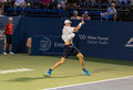 John isner plays center court at the winston salem open Stock Photography