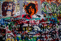 John Lennon graffiti wall Prague Stock Photo