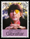 John Lennon Postage Stamp Royalty Free Stock Photo