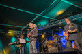 John mayall band playing together notodden blues festival nbf with visited nbf and played on hovig hangar members vocals guitar Stock Photo