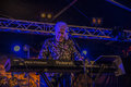 John mayall playing keyboard notodden blues festival nbf with band visited nbf and played on hovig hangar band members vocals Stock Photo