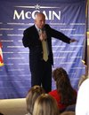 John McCain Speaking Royalty-vrije Stock Foto