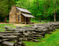 John Oliver Cabin Great Smoky Mountain National Park Royalty Free Stock Photo