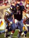 John randle minnesota vikings former defensive linemam randel image taken from color slide Stock Image