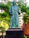 John Watts bronze sculpture in the Trinity Church Cemetery Royalty Free Stock Photo