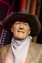 John wayne in the famous wax museum madame tussauds london england Royalty Free Stock Photo