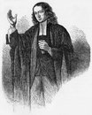 John wesley portait of preaching at the age of engraving from selections from the journal of Royalty Free Stock Image