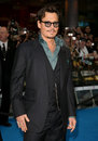 Johnny depp arriving uk premiere pirates carribean stranger tides vue westfield london picture alexandra glen featureflash Royalty Free Stock Image