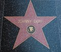 Johnny depp hollywood star on street in los angeles Royalty Free Stock Photos