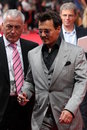 Johnny depp lone ranger premiere germany berlin july th attends the movie of Stock Photos