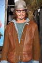 Johnny depp los angeles feb arrives at the rango premiere at village theater on february in westwood ca Stock Images