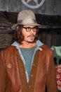 Johnny depp los angeles feb arrives at the rango premiere at village theater on february in westwood ca Stock Photo