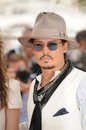 Johnny depp photocall his movie pirates caribbean stranger tides th festival de cannes may cannes france picture paul smith Stock Photography