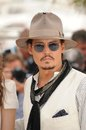 Johnny depp photocall his movie pirates caribbean stranger tides th festival de cannes may cannes france picture paul smith Royalty Free Stock Photo