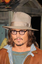 Johnny depp at the rango los angeles premiere village theater westwood ca Royalty Free Stock Image