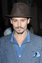 Johnny depp at a special screening of sweeney todd the demon barber of fleet street paramount theatre hollywood ca Royalty Free Stock Photography