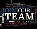 Join Our Team - Word Cloud Royalty Free Stock Photo