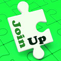 Join Up Puzzle Shows Subscribing Member Membership And Registrat Royalty Free Stock Photo