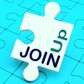 Join Up Puzzle Shows Subscribing Member Royalty Free Stock Photo
