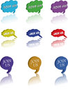 Join us balloons set of on a white background Royalty Free Stock Image
