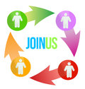 Join Us Social Network Concept Stock Photos