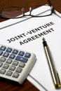 Joint-Venture Agreement Royalty Free Stock Photo