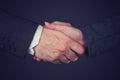 Joint venture business handshake Royalty Free Stock Photo